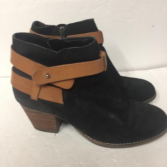 7801d53d2b85f DV by Dolce Vita Shoes - DV Dolce Vita Black W/Brown Straps Ankle Bootie